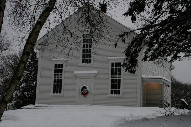 Snowy Meetinghouse December, 2008