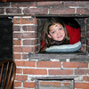 When you're nine, you can fit almost anywhere...even in an old warming oven next to the fireplace! Phoebe had her pillow, and very well may have taken a nap, but then the lunch bell rang!