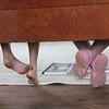 Bench feet.