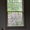 Spring, through a meetinghouse window.