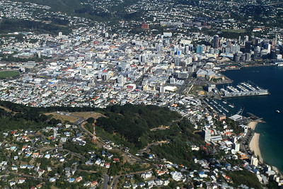 Flying over Mt Victoria