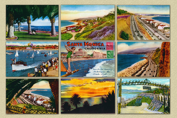 Santa Monica Historical Postcards