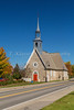 The Catholic church at Saint Pierre onthe isand of Ile d'Orleans, Quebec, Canada.