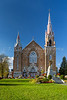 The Sainte Agnes Catholic Church at the Eastern Townships town of Lac Megantic, Quebec, Canada.