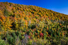 Fall foliage color in the mountains near Mont-Tremblant, Quebec, Canada.