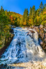 The Diable River waterfalls in Mont-Tremblant National Park, Quebec, Canada.