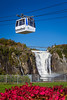 A cable car and the Montmorency Falls, Quebec, Canada.