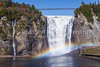 The Montmorency Falls with rainbow, Quebec, Canada.