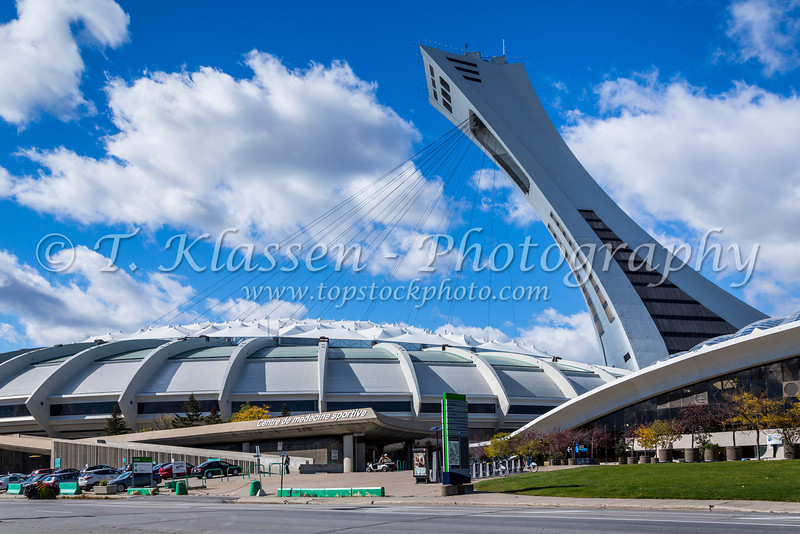 The Olympic Park and stadium in Montreal, Quebec, Canada.