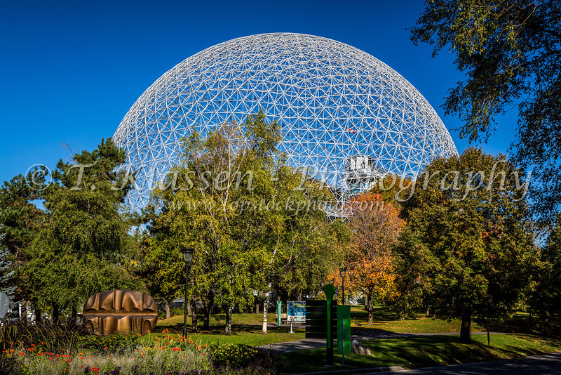 The Biosphere structure on the island of Saint Helene in Jean Drapeau Park in Montreal, Quebec, Canada.