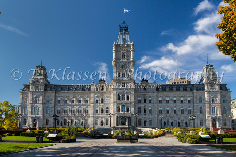 The Quebec National Assembly building in Quebec City, Quebec, Canada.