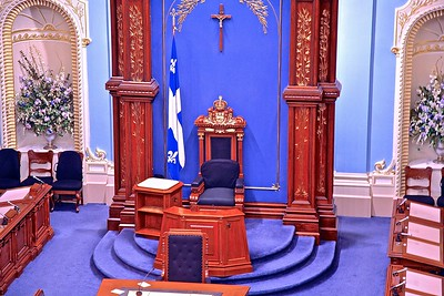 The Throne in the National Assembly Chamber in Quebec