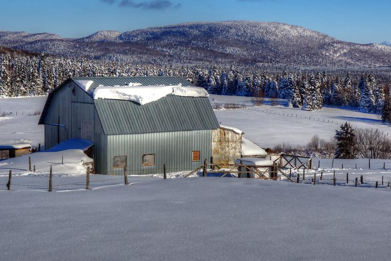 Barn In Snow, Quebec