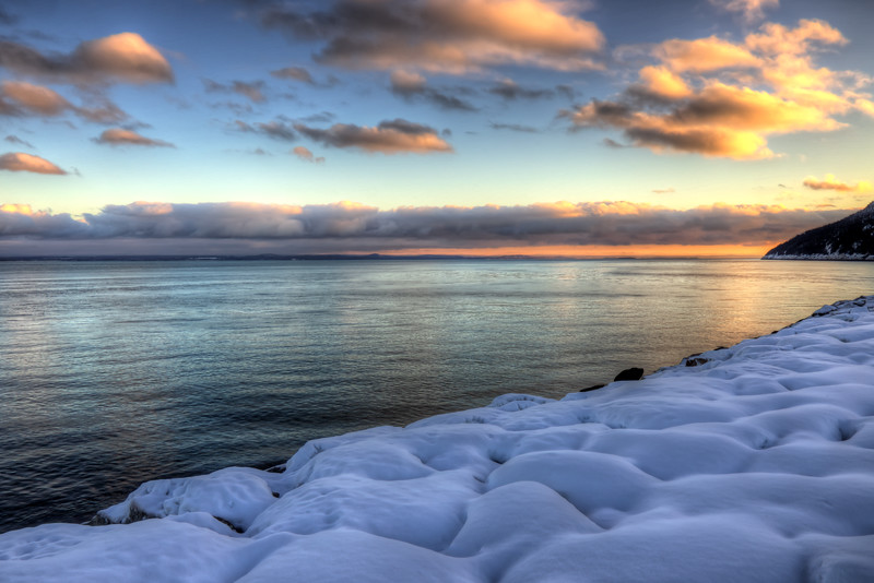 Sunset With Snow, Port Au Persil
