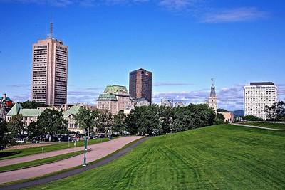 Modern Skyscrapers in Quebec City