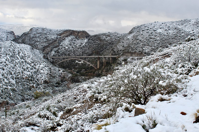 Snowy day in Queen Creek Canyon (2019)