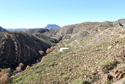 View of Queen Creek Canyon from old Highway 60  (2017)