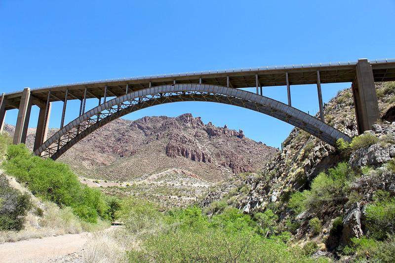 Current Highway 60 bridge over Queen Creek Canyon (2018)