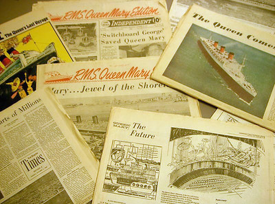 Queen Mary Retirement Newspapers