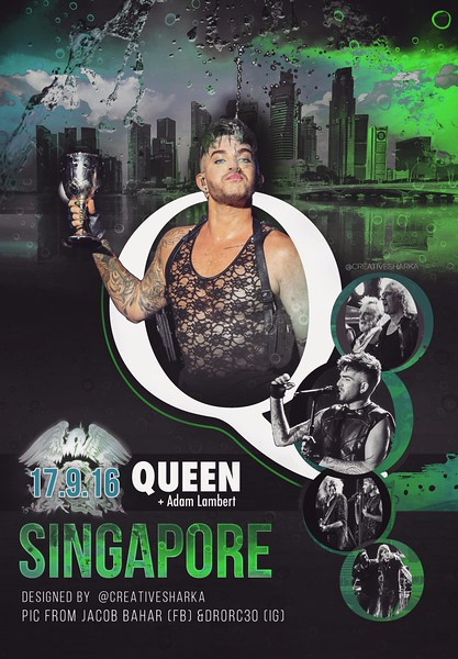 SHΛRKΛ ☕ ‏@creativesharka  UNOFFICIAL QAL POSTER 9/17 Singapore  📥 https://goo.gl/TyxBPB  THANKS to Jacob Babar (fb) & drorc30 (ig) for pics