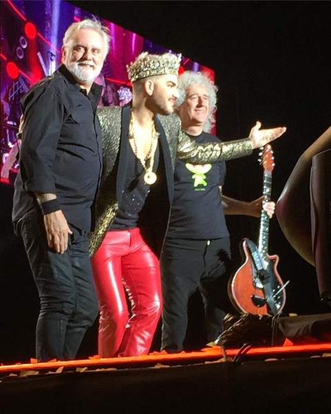 laurawilma  These three ❤️❤️😭😭 #queen #adamlambert