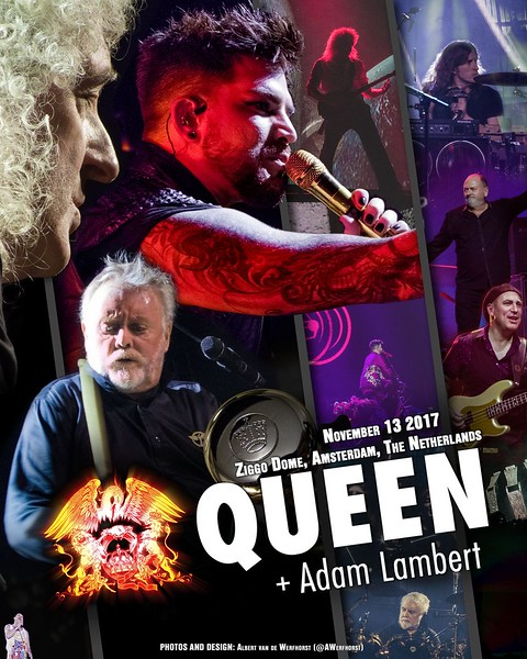 Albert vd Werfhorst‏  @AWerfhorst Unofficial poster for @QueenWillRock + @adamlambert at @ZiggoDome Amsterdam The Netherlands.