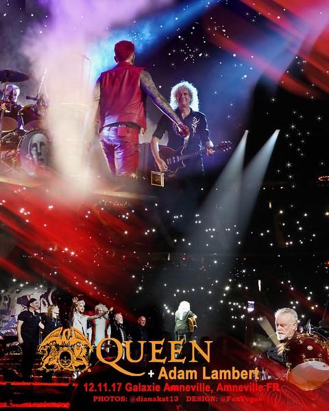 Adam Lambert is King♔ @FoxVegas  UNOFFICIAL POSTER 👑 .@QueenWillRock + .@adamlambert Galaxie d'Amnéville, Amnéville, FR 12.11.17 Photos: @dianakat13  Poster Design: @FoxVegas