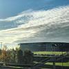 zalgirioarena  #Autumn colors next to #ZalgirioArena. 🍂☀️ #morning #fog