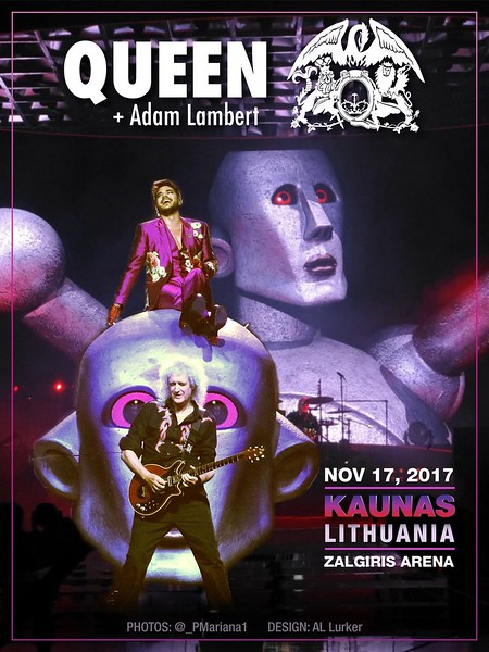Frank @Frank_NOTW  Check out Frank doing some promo for the next gig @QueenWillRock @adamlambert 👍🏼👍🏼 Poster : @_PMariana1  Design : AL Lurker