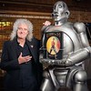 Queen  @QueenWillRock More Brian with the original News of the World robot 40 years on who still resides at his residence. (Picture credit: Paul Harmer) #NOTW40