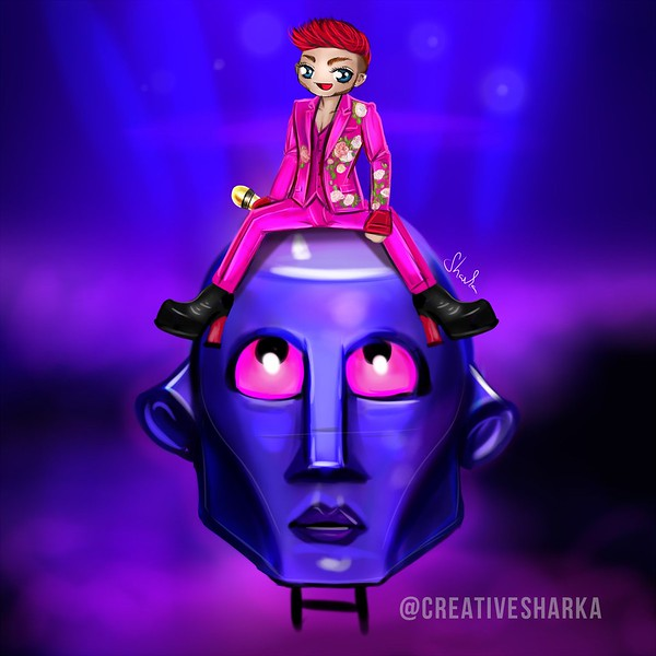 SHΛRKΛ  ☕‏  @creativesharka Follow More New chibi of @adamlambert #fanart #killerqueen #QAL2017