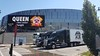 MelisendePF‏ @MelisendePF  That's a lot of touring trucks parked at the Sprint Center 4 tonight's Queen & Adam Lambert show in KC.