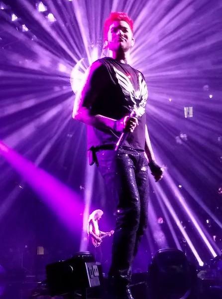 Greg Stimple  -  Adam Lambert singer for Queen that's how close we were — in Omaha, Nebraska.