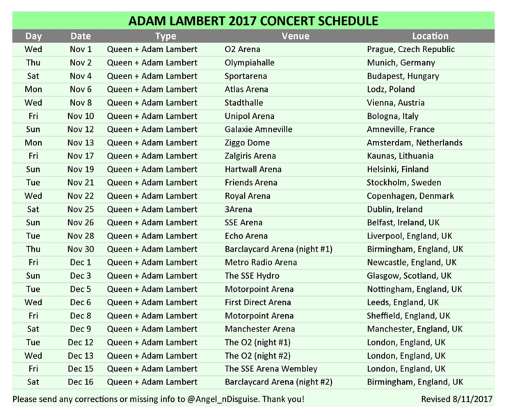 QAL CONCERT DATES 2017 via @Angel_nDisguise