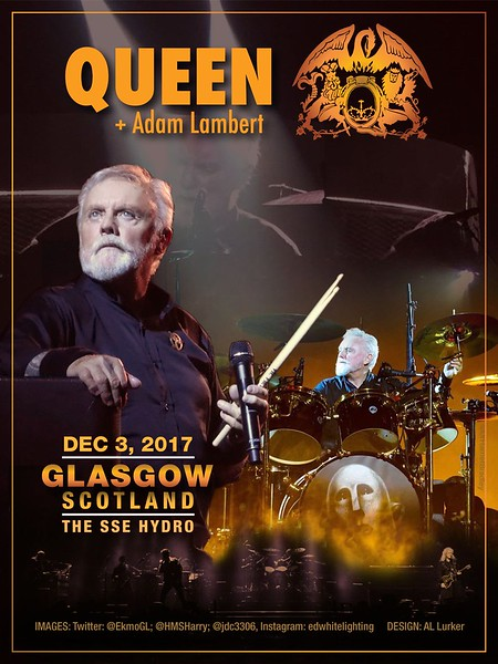 The SSE Hydro, Glasgow Scotland 03.12.17 Photos ~ Twitter: @EkmoGL, @HMSHarry, @jdc3306 ~ Instagram: @edwhitelighting Poster Design: AL Lurker
