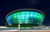 Externally a translucent ETFE skin draws attention to the landmark, capable of displaying 12.8m colours and moving imagery which can be projected onto the canopy.