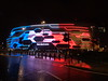 First Direct Arena, Leeds in the colours of the French Tricolor following the November 2015 Paris attacks (14th November 2015) by Mtaylor848