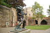 Robin Hood statue outside of Nottingham Castle
