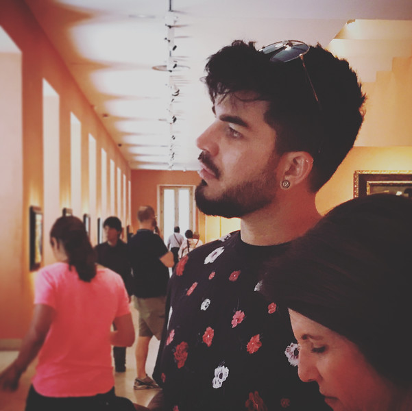 "😊 Just dawned on me.  That's Leila with Adam!  ""Mother and Child"" ✨✨✨ Adam Lambert's June 9 Instagram: ""Mother and Child - Thyssen Bornemisza Museum - Madrid"""