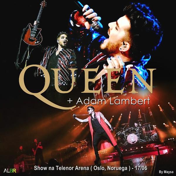 Adam Lambert Brasil  @AdamLambertBr  Hoje o Show será em Oslo na Noruega, a partir das 14h30m