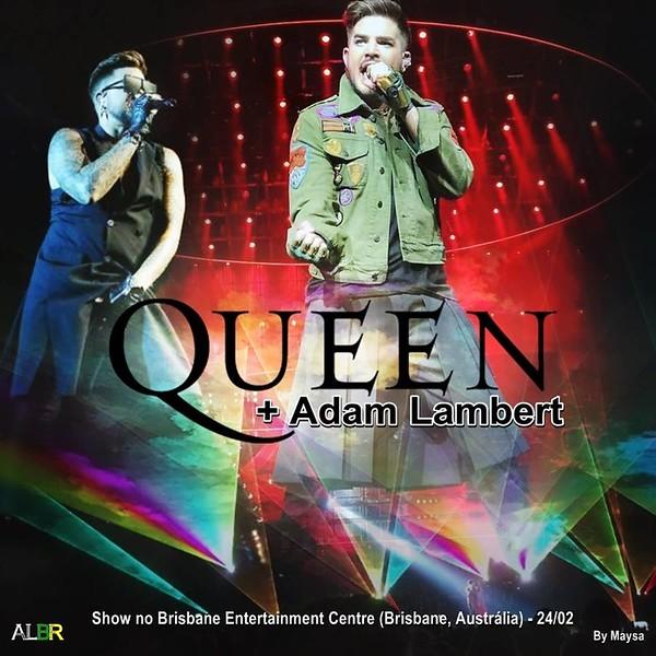 ❤Adam Lambert Brasil  @AdamLambertBr  Logo mais, a partir das 07:15 da manhã, Show Queenbert em Brisbane!  (Pics by @judetabron e Getty Images)