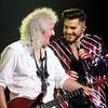 July 1 Lein Verheij  @LeinVerheij  Goal in life: be as happy as these two on stage 😄  #adamlambert #brianmay #qal #QueenandAdamLambert #wembleyarena #QALWembley