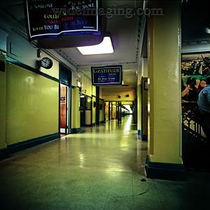 Main hallway of Flushing High School looking East toward the new wing.