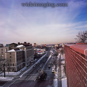 View looking West on Northern Blvd. near Bowne Street, February 2011.