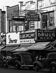 Before they took over Gertz, Stern's was once a modest shop on the East side of Main Street, next to a long surviving Army & Navy store in this March 1939 detail from: http://www.wideimaging.com/gallery/3273609_SVoat#751962046_Bqn38