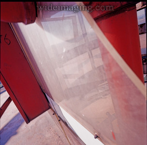 Detail from the top level of the New York State Pavilion, October 15, 1977.