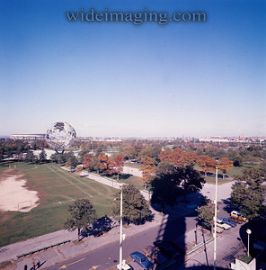 New York State Pavilion by October 15 1977 a shadow of it's former self.