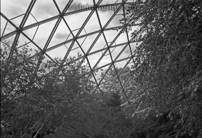 Geodesic dome structure formerly the World's Fair Churchill pavilion relocated, from October 1989.