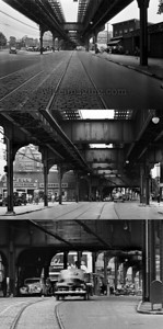 3 zoom levels of the Jamaica Ave.El by 139th St. May 19, 1943