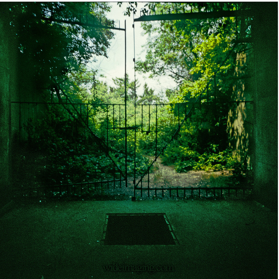 Bunker entrance gates, July 1974.